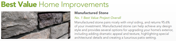 Stone Value informational banner